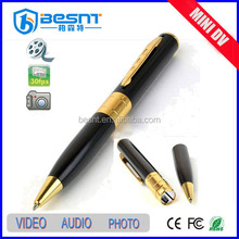 china supplier cheapest tf card pen mini disguise camera with video/audio recording, how to use pen camera (BS-723)