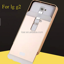 Gold For Lg G2 2 In 1 Aluminum Bumper PC Back Cover