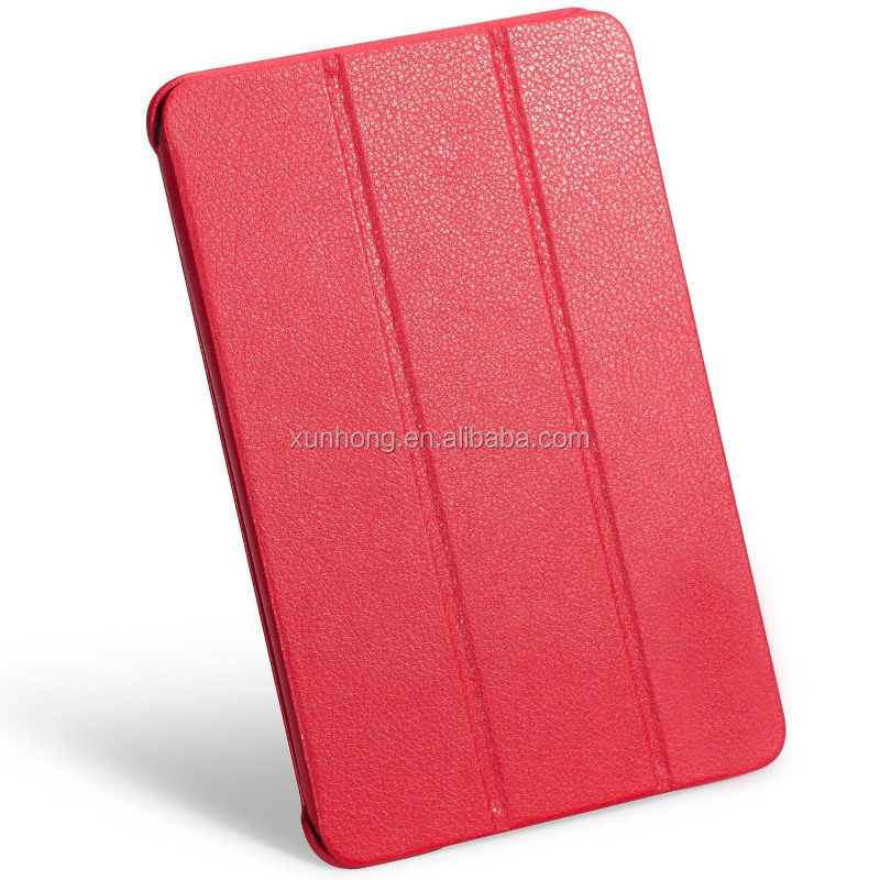 J1189 Leatherette Case Cover for iPad mini retina very slim case red