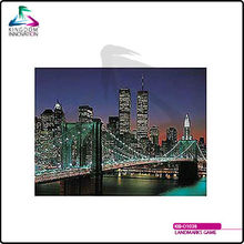 KIB-O1038 Landmarks Game New York City,Brooklyn Bridge and Manhattan Jigsaw Puzzle,2000 Pcs