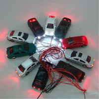 Diecast 1:200 Scale Model Light Car Toy with LED Railway Lighting Car