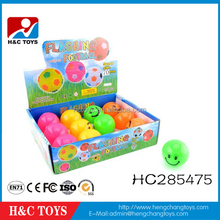 Wholesale 7cm color flashing smilely bouncing ball toys kids toy HC285475