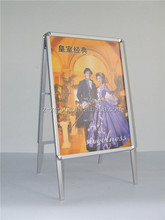Outdoor double/single sided poster display a1 size folding poster stand