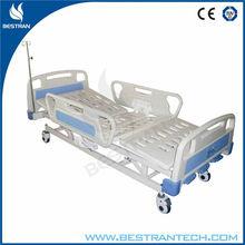 China BT-AM111 parts/ Hospital Crib 3 Functions ABS Headboard Manual Hospital Antique Iron Bedmanual crank adjustable bed sale