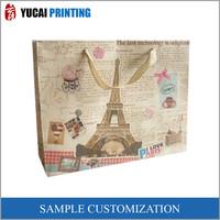 Custom Print Brown 350g Kraft Shopping Paper Bags