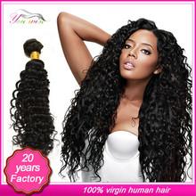 Tangle free shedding free brazilian hair /model model deep wave hair human hair extension