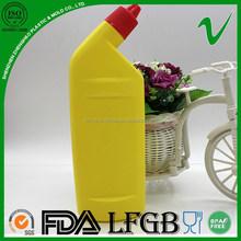 HDPE wholesale reusable filling empty 750ml plastic bottle with OEM design for toilet detergent liquid package