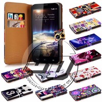 For Vodanfone Smart 4 Power case, book style wallet printed PU leather flip cover case for Vodanfone Smart 4 Power