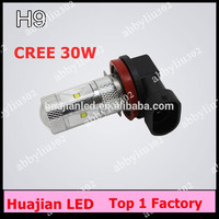FREE SHIPPING super Bright H8 30W high power Chips 6 LED Fog Lights 12V 24V high power XBD 720lm fog lamps 30w