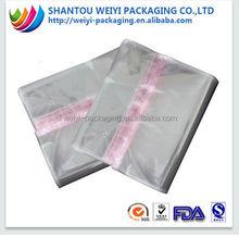 Thin transparent plastic garment poly bag