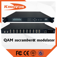 digital catv headend device QAM rf dvb-c modulator with scrambler funtion