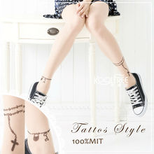 Women Nude Color Tattoo Stockings