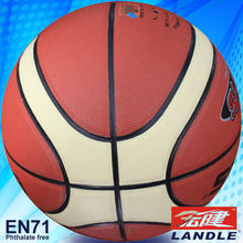 PVC leather official size pvc basketball 12 panel