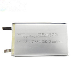 Rechargeable 3.7v 1500mah Li-polymer Battery Manufacturer with CE,ROHS,UL certificates