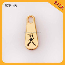 MZP48 Alibaba China fashion garment accessory custom decorative metal zipper pull