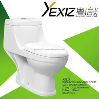 A3117 bathroom washdown sanitary ware one piece toilet