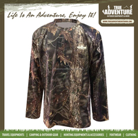 TA1-002B True Adventure Hunting Wear Army T Shirts Long Sleeves T Shirts Camouflage Printed Army Camo Shirt