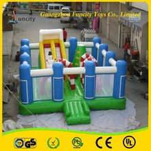 0.5MM PVC tarpaulin gaint inflatable playground/fun city bouncer/fun city games for hot sale