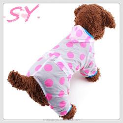 Wholesale 2015 spring new pet clothes dog spots sunscreen clothing Raincoat wholesale dog clothes