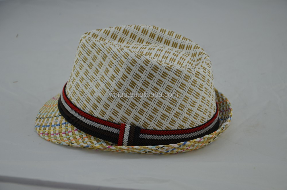 summer cool paper straw hat thick hat with