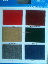 Plain Design Solid Color polypropylene wall to wall Commercial Carpet