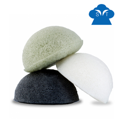 Facial charcoal konjac sponge with gift box view window package
