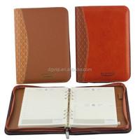 Custom quality PU A4 business art leather portfolio
