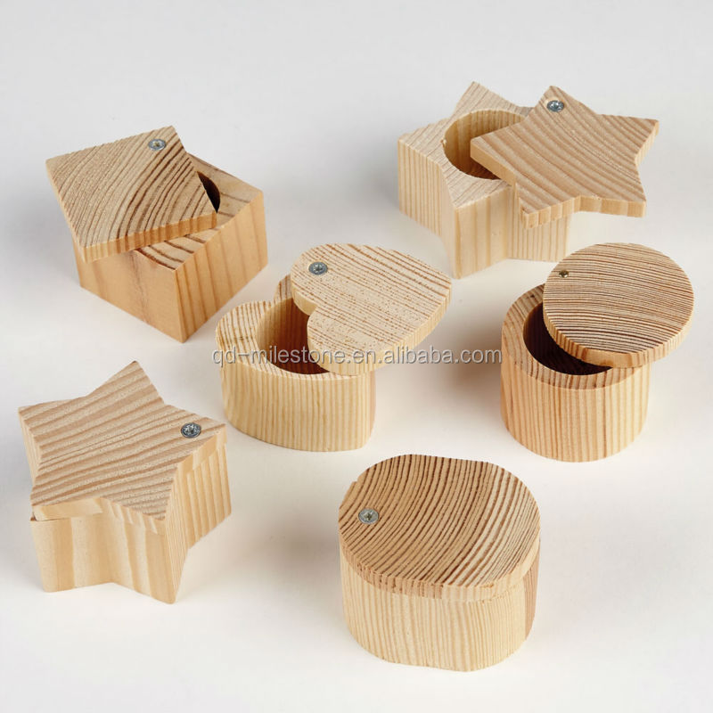 small wooden craft boxes mini wooden treasure chest