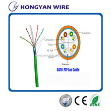 AL-foil and Copper braidng Cat6 ftp Lan Cable 4pairs twisted conductor
