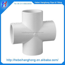 made in China Plastic injection pvc fitting four way cross