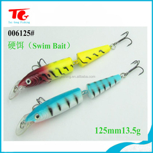 2 sections 3Deyes artificial hard bait joint fishing lure,bait boat lure fish
