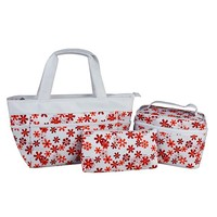 Factory price hot selling large cosmetic bags with compartments