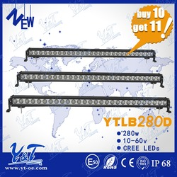 Shenzhen manufactured Competitive Price led light bar280w c.r.e.e 4x4 led light bar mini light bar