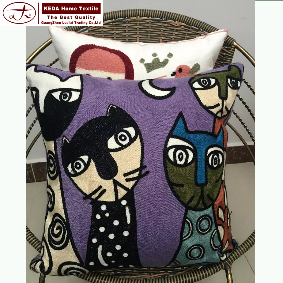 2016 best selling products embroidery decorative pillow cover pillow case for pillow