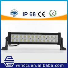 Factory supply 72W white double row light Car strobe 4X4 offroad headlight Led light bar for trucks JEEP SUV ATV