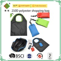 pouch drawstring shopping bag 210D polyester drawstring bags
