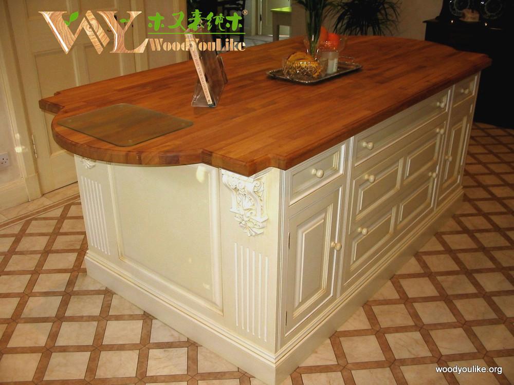 Design moderne iroko comptoir de cuisine comptoirs - Comptoir cuisine pas cher ...