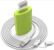 8pin to Micro USB adapter,MFI certified adapter 8pin to mirco usb 2 in 1 for iPhone 6 & 6 Plus 5 & 5S & 5c/iPad