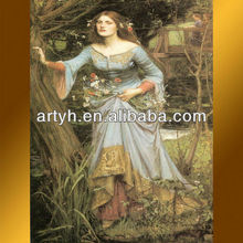 Traditional Handmade Female Oil Painting Art Dealer