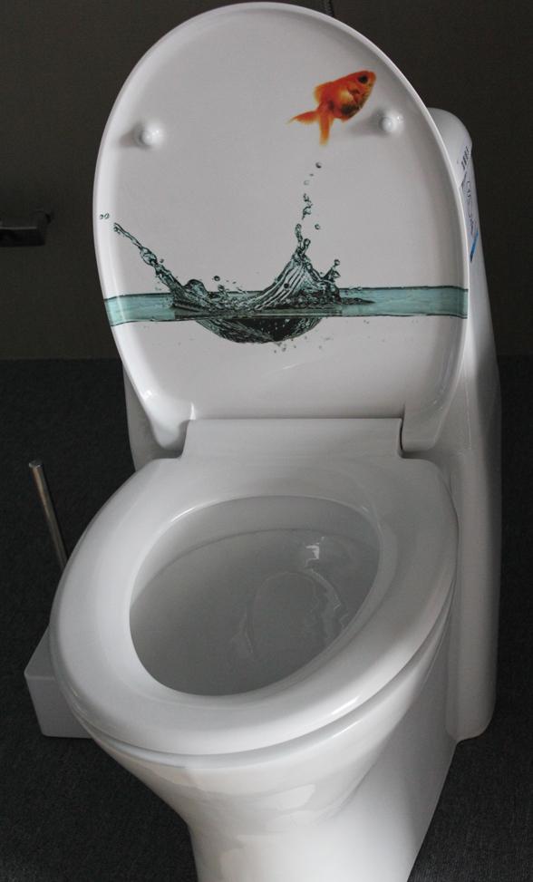 3 Way Printed Decorative Toilets Seat Thermoset Plastic