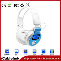 Outdoor neckband bluetooth stereo headphone New Over the Ear Headphones 2014
