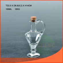 Wholesale 100ml glass bottle oil with cork with FDA report