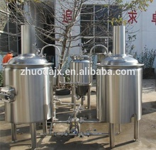 Cerveza 100L fermentación industrial