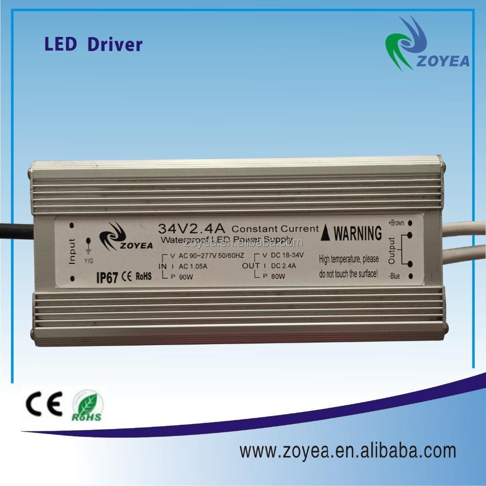 Ip67 80 w led güç kaynağı CE ve RoHs onaylı