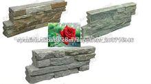 Cuarcita verde apiladas baldosas de piedra