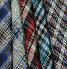 stocklot fabric cotton yarn dyed check