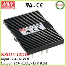 meanwell 12v dc to 15v -15v dc converter NSD15-12D15