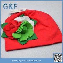 Baby Cotton Head Cap With Flowers