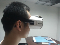 DIY paper Virtual Reality Google Cardboard for short-sighted people, Virtual Reality glasses for short-sighted people