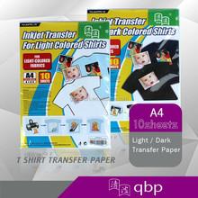 2015 new hotsale Dark T-shirt Heat/Inkjet Transfer Paper for pure cotton T-shirt/fabric